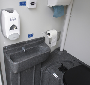 Toilet wash area